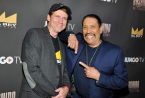 Daniel Tibbets (President and GM of El Rey Network) and Danny Trejo (Getty Images)