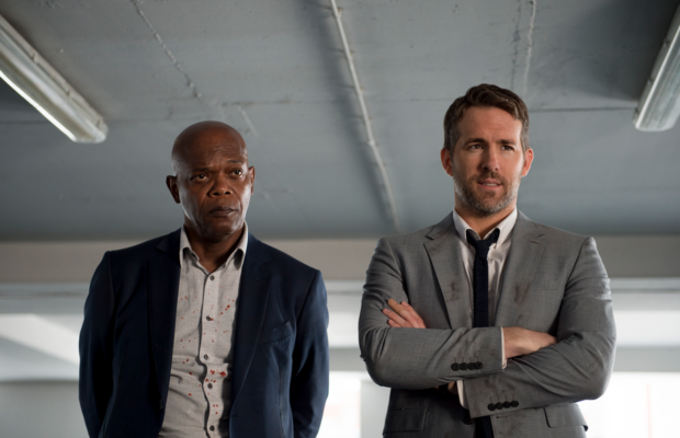 Samuel L. Jackson and Ryan Reynolds in The Hitman's Bodyguard (Courtesy of Summit Entertainment and Millenium Media)