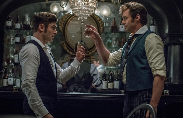 Hugh Jackman and Zac Efron in The Greatest Showman (Niko Tavernise)