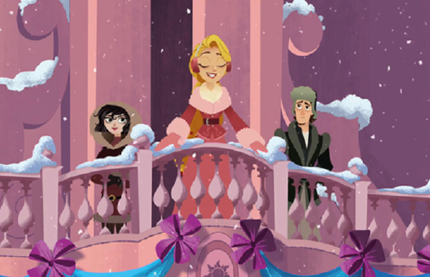 "Win a DVD of Tangled: The Series ""Queen for a Day""."