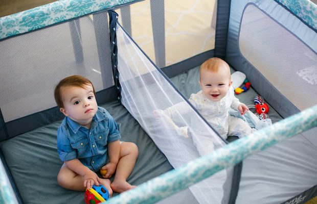Romp and Roost puts a unique spin on the usual playpen. (Jacqueline Felix)