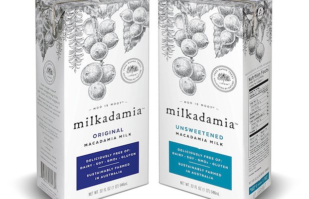 Dairy-free Milkadamia is non-GMO, gluten-free, soy-free and vegan.