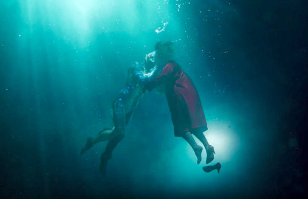 Doug Jones as Amphibian Man and Sally Hawkins as Elisa Esposito in The Shape of Water. (Fox Searchlight Pictures)