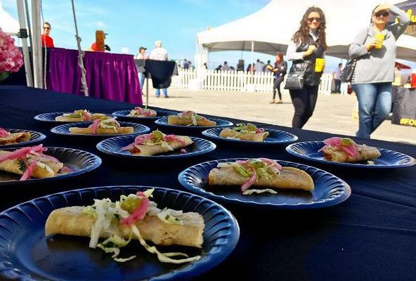 Food and guests at the ¡Latin Food Fest! in 2017. (Courtesy photo)