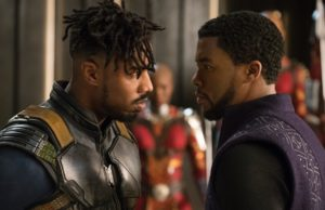 Michael B. Jordan and Chadwick Boseman both star in Black Panther. (Marvel Studios)