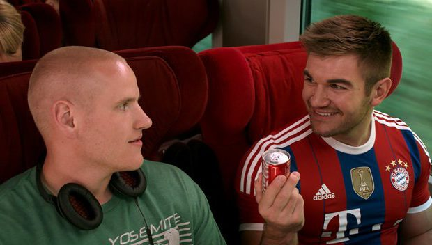 Spencer Stone, left, and Alek Skarlatos in The 15:17 to Paris (Warner Bros. Pictures)