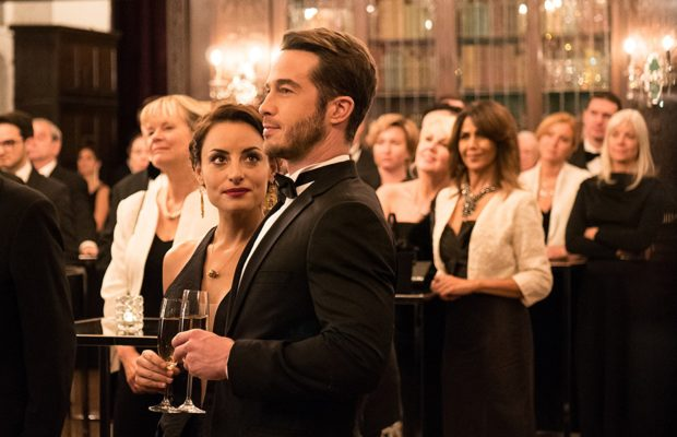 Marimar Vega, left, and Ryan Carnes in La Boda de Valentina (Pantelion Films)