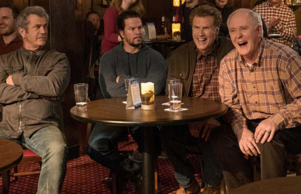 Mel Gibson plays Kurt, Mark Wahlberg plays Dusty, Will Ferrell plays Brad and John Lithgow plays Don in Daddy's Home 2 from Paramount Pictures.
