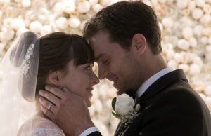 Dakota Johnson and Jamie Dornan as Anastasia Steele and Christian Grey, respectively, in Fifty Shades Freed. (Universal Pictures)
